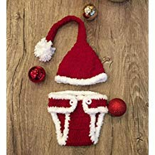 Santa, Newborn Baby Girl/Boy Crochet Knit Costume Photo Photography Prop Hats Outfits