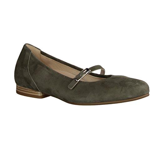 Gabor Comfort 82657-34- Damenschuhe Modieuze Pompen / Ballerina, Groen, Leather (samtchevrau), Hielhoogte: 15 Mm Green