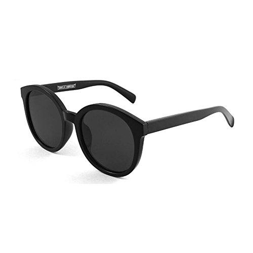 Solar Anti Sra Protección gafas 100 Negro de Azul sol Decoración Redondo Espejo Polarizada UV Luz Clásico Marco Protección UVA Color Retro Hombres WYYY O4Zqw7WF4
