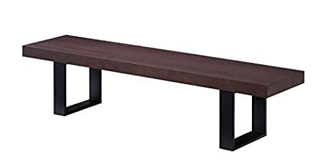 Peachy Amazon Com J And M Furniture Block Bench Dark Walnut Evergreenethics Interior Chair Design Evergreenethicsorg
