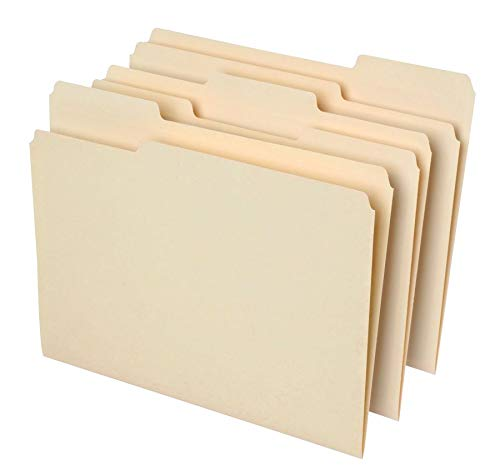 - Office Depot File Folders, 1/3 Cut, Letter Size, 30% Recycled, Manila, Pack of 100, 810838