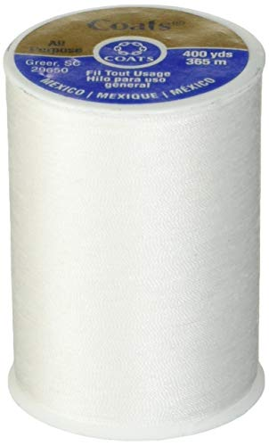 Coats & Clark All Purpose Thread 400 Yards White (One Spool of Yarn) (3) from Coats & Clark Inc.
