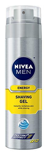 NIVEA FOR MEN energía afeitado Gel Q10, 7 oz botella (paquete de 3)