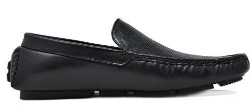 BRUNO MARC NEW YORK Men's PHILIPE-02 Black Penny Loafers Moccasins Shoes Size 7.5 M US by BRUNO MARC NEW YORK (Image #2)