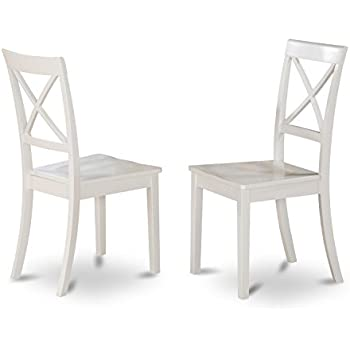 Ordinaire East West Furniture BOC WHI W X Back Chair Set For Dining Room