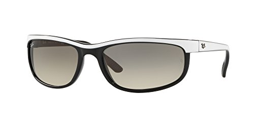 Ray-Ban Men's Predator 2 Rectangular Sunglasses, Top White on Black, 62 - Ray Bans White