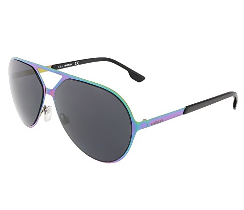 Diesel sunglasses DL0114 92A Emerald fuxsia with grey lens
