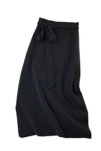 Mujer Midi Faldas Alta Línea A Cintura Yulinge De Negro Tiras Con Para aUnpxvw