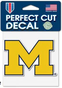 WinCraft NCAA University of Michigan Wolverines Perfect Cut Color Decal, 4