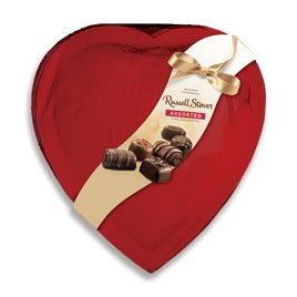 Russell Stover Red Foil Heart Assorted Chocolates, 14 Ounce