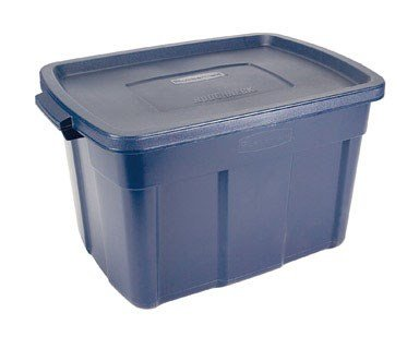 Rubbermaid Roughneck Tote Storage Container, 25-Gallon, D...