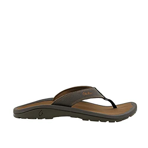 (OLUKAI Men's Ohana Sandals, Dark Java/Ray, 11 M US)