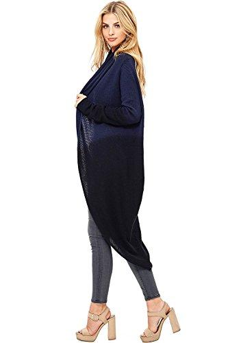Love Stitch Women's Two Tone Knit Oversize Cardigan (L, Navy) by Love Stitch (Image #2)