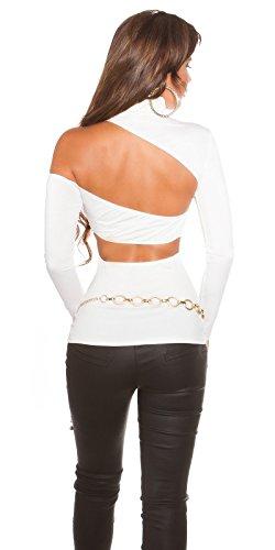 Koucla - Camiseta de manga larga - para mujer blanco