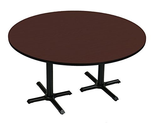 Correll BCT60R-21 Cherry Top and Black Base Round Bar, Café and Break Room Table, 60