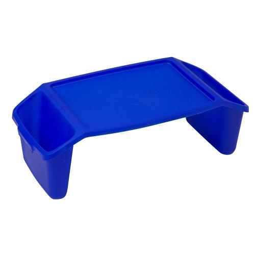 (Duro-Med Rigid Plastic Bed Tray, Side Pockets, Blue)