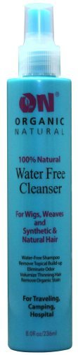 On Organic Natural 100% Natural Water Free Cleanser for Wigs, Weaves and Synthetic & Natural Hair 2 oz by Natural Organic