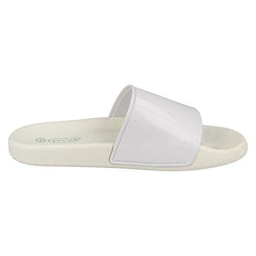 On Damen On Sandalen Spot Weiß Casual Slip gwxTdgzCcq