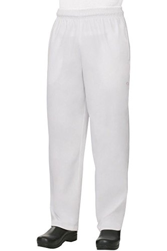 White Baggy Chef Pants - 4