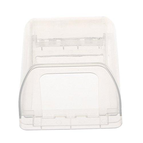 MonkeyJack Transparent Receptacle Wallplate Cover, Electrical Socket Waterproof Box,Bathroom Socket Switch Splash Box for Big plug - Clear