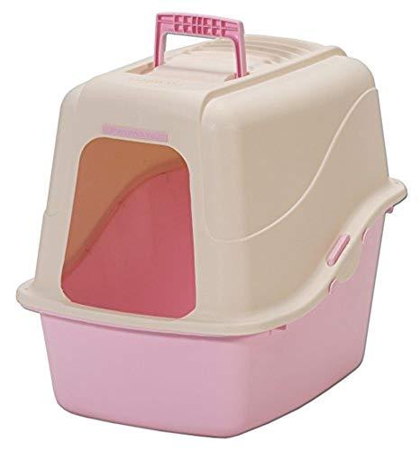 Petmate Hooded Litter Pan Set Large, Beige/Light Pink