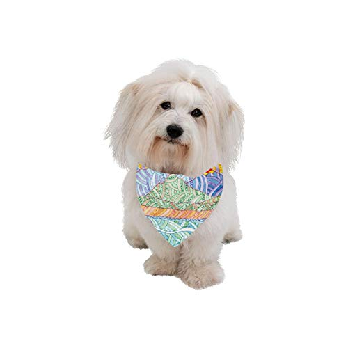 AIKENING Dog Scarf Lake and Mountain Design Style Printing Dog Bandana Triangle Kerchief Bibs Accessories for Large Boy Girl Dogs Cats Pets Birthday Party Gift