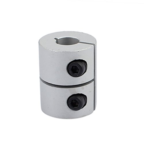 uxcell 8mm to 6.35mm Shaft Coupling 25mm Length 20mm Diameter Coupler Aluminum Alloy Joint Motor for 3D Printer CNC Machine DIY Encoder