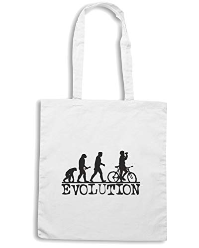 Bianca Shopper EVOLUTION Borsa BIKING Shirt OLDENG00063 Speed xTR6a6