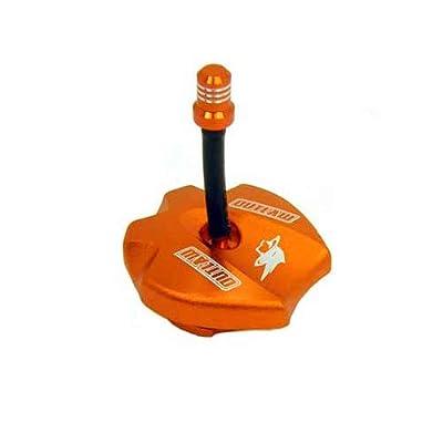 Outlaw Racing 12206 Billet Anodized Gas Fuel Tank Cap With Vent Hose Orange Ktm125SX: Automotive