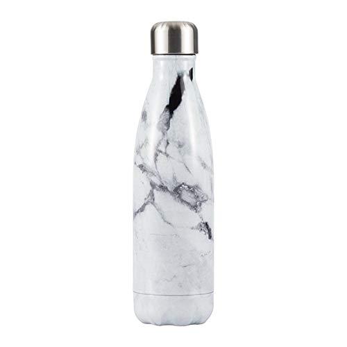 BAYUE Botella de Agua con Estampado de mármol Copa aislada ...