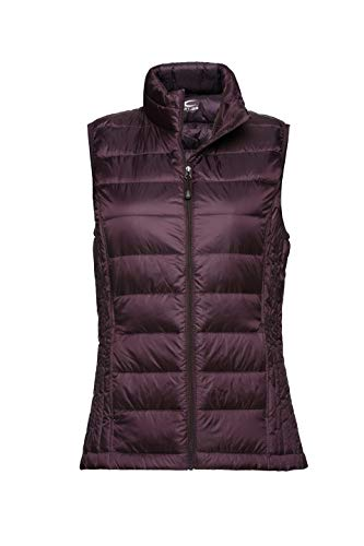 Purple Puffer - XPOSURZONE Women Packable Lightweight Down Vest Outdoor Puffer Vest Mahogany S
