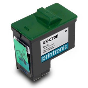 Printronic Remanufactured Ink Cartridge Replacement for Sharp UXC70B (1 Black)