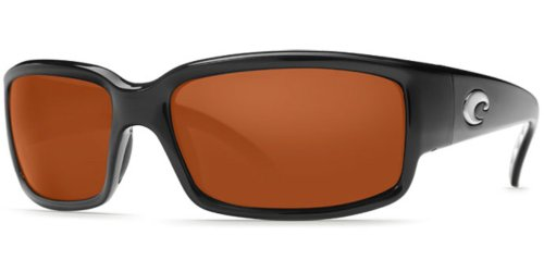 - Costa Del Mar Sunglasses - Caballito- Glass / Frame: Shiny Black Lens: Polarized Copper Wave 580 Glass-CL11CW580