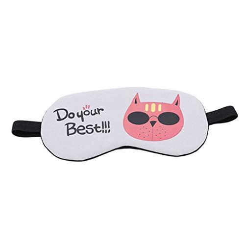 LZIYAN Sleeping Mask Cartoon Cat Sleep Eye Mask Breathable Travel Shade Cover Rest Relax Sleeping Blindfold Eye Patch,Gray by LZIYAN (Image #1)