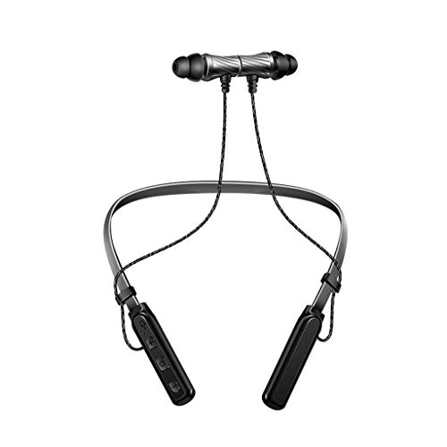 LyJ+evanism Clear and Powerful Bluetooth Headphones, Portable Wireless Bluetooth Sports Headphones,Wireless Neck-Mounted Bluetooth Headset,for Running, Cycling, Gym, Travelling (Color : Gray) from LyJ+evanism