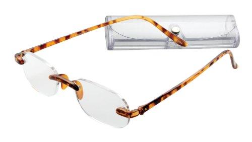 Rimless Lightweight Travel Readers with Gel Temples By ICU (2.00, - Eyewear Readers