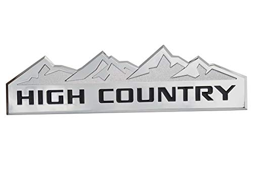 Yuauto HIGH COUNTRY Car Emblem, Replacement for Badges Door Tailgate 3D Nameplate for Chevrolet Silverado 1500 2500HD Sierra 3500HD