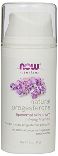 NOW Foods Progesterone Cream W/Lavender, 3 Ounces (Progesterone Cream Pump compare prices)