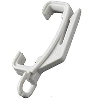 Curtain Rail Track Glider Fitting Decorail Pole White Plastic Hook ...