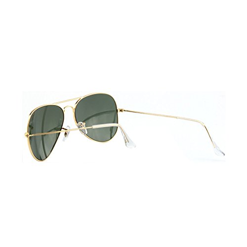 Color Solar Gafas Aire Libre al de Sol Oro de Protección Dark Green Driver Mirror Gun Gafas Color Cómodo Trend Mirror Fashion zwqZ67xT