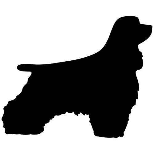 Cocker Spaniel Dog Decal Sticker (Black, Mirrored), Decal Sticker Vinyl Car Home Truck Window Laptop