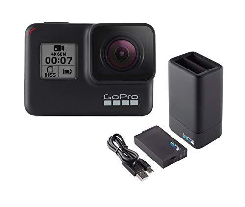 GoPro AADBD-001-ES - Cargador de batería Dual y batería para Hero 5, Negro