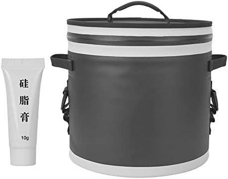 17Lポータブル冷蔵庫バッグ、大容量のキャンプサーマルクーラーボックス冷蔵庫、キャンプ、ピクニック、釣り、オフィス用の優れた保温性(黒)