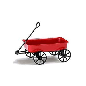 Dollhouse Red Wagon