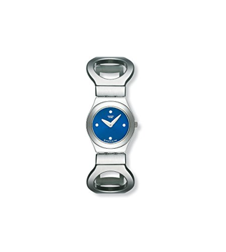 Swatch Hollow Blue Dial Stainless Steel Quartz Ladies Watch YSS155H
