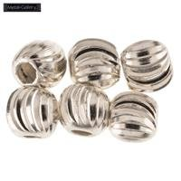 5mm Sterling Silver Fluted Beads