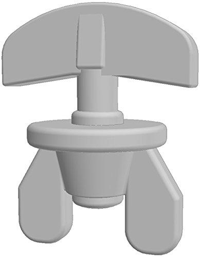 Gardineum f/ür Kunststoff Gardinenschiene Vorhangschiene - 1-l/äufig Enddeckel Kunststoff Paar Weiss