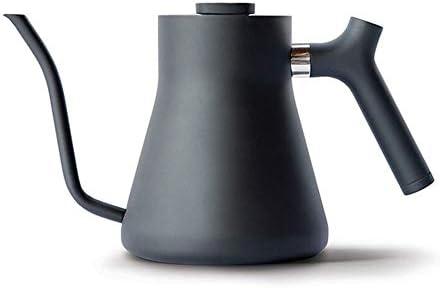 コーヒーポット 1Lマニュアルコーヒードリップポットステンレス鋼の温度測定小さな口 ドリップポット (Color : Blue, Size : One size)