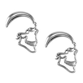 0g 316L Surgical Stainless Steel Skull Expanders Sold As A Pair Toltec Trading Company