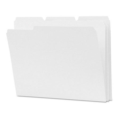 Smead File Folder 12834 - Letter - 8.50 X 11 - 1/3 Tab Cut - 0.15 - White - 100 / Box - Sfi (12834 File)